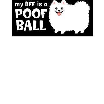 My BFF is a Poof Ball Pomeranian (White) by ShortCoffee