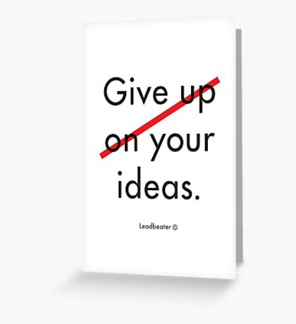 Give your ideas. Greeting Card