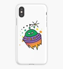 Spaced Out Alien iPhone Case/Skin