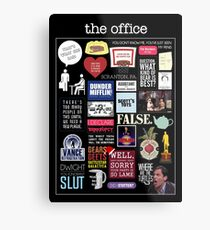 The Office | Elements | Quotes Metal Print