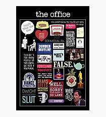 The Office   Elements   Quotes Photographic Print