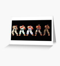 street fighter 1,2,3,4,5 Greeting Card