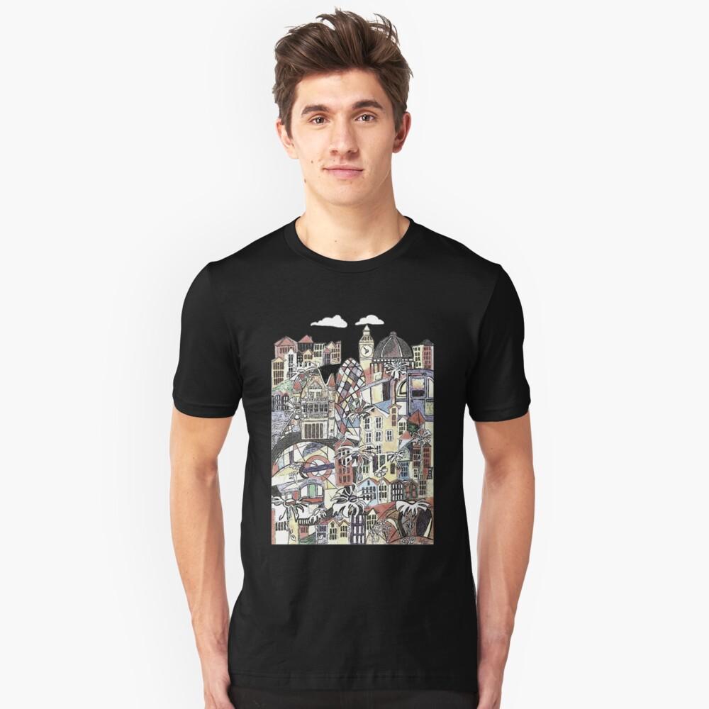 London blooms cityscape Slim Fit T-Shirt
