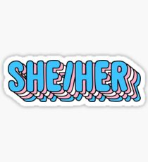 she her pronouns - trans pride Sticker
