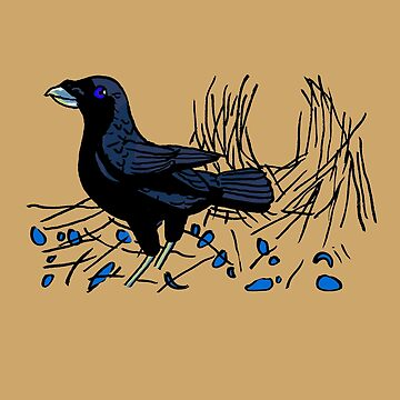 Satin Bower Bird by HiddenStash