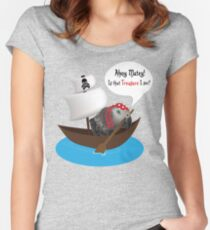 Ahoy Matey!  Women's Fitted Scoop T-Shirt