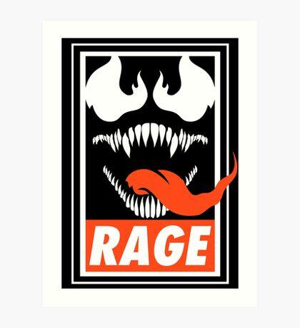 Rage. Art Print