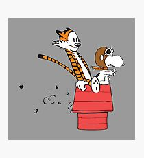 Calvin And Hobbes Flying Ace Photographic Print