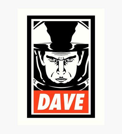 Dave. Art Print