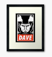 Dave. Framed Print