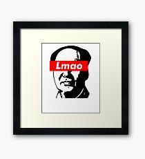 Lmao Mao Zedong Supreme Box Logo Parody Framed Print