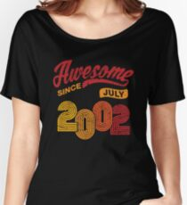 Awesome Since July 2002 Shirt Vintage 16th Birthday Women's Relaxed Fit T-Shirt
