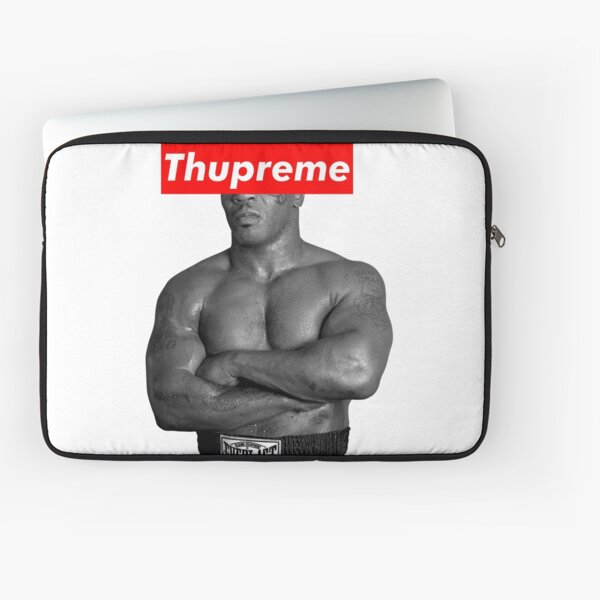 Mike Tyson Supreme Box Logo Parody Laptop Sleeve