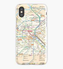 Paris Subway Map - France iPhone Case/Skin