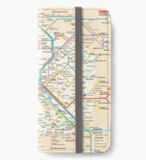 Paris Subway Map - France iPhone Wallet/Case/Skin