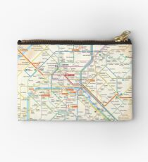 Paris Subway Map - France Zipper Pouch