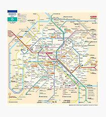 Paris Subway Map - France Photographic Print