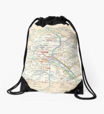 Paris Subway Map - France Rucksackbeutel