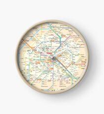 Paris Subway Map - France Clock