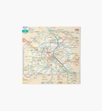 Paris Subway Map - France Art Board