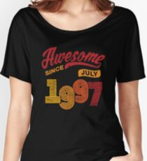 Awesome Since July 1997 Shirt Vintage 21st Birthday Women's Relaxed Fit T-Shirt