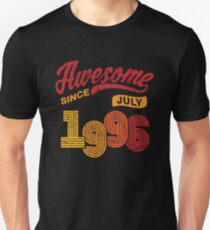 Awesome Since July 1996 Shirt Vintage 22nd Birthday Unisex T-Shirt