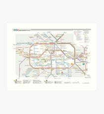 Berlin U-Bahn Map - Germany Kunstdruck
