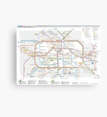 Berlin U-Bahn Map - Germany Metal Print
