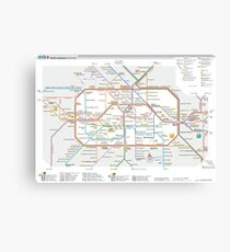 Berlin U-Bahn Map - Germany Canvas Print