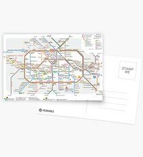Berlin U-Bahn Map - Germany Postcards