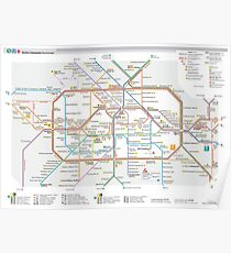 Berlin U-Bahn Map - Germany Poster