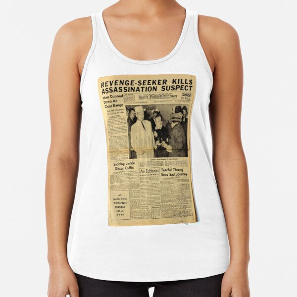 Old Newspaper Racerback Tank Top