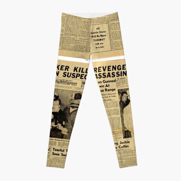 Old Newspaper Leggings