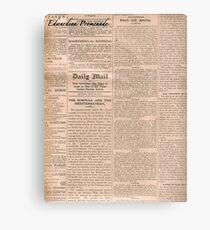 Old Newspaper Canvas Print