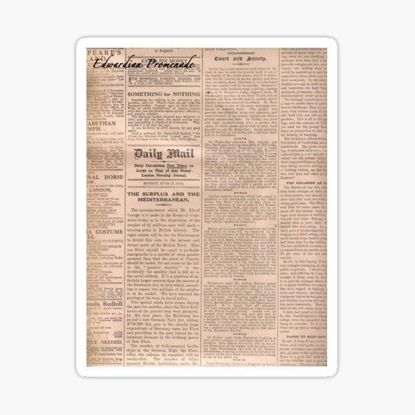 Historical #Old #Newspaper #OldNewspaper #HistoricalNewspaper Sticker