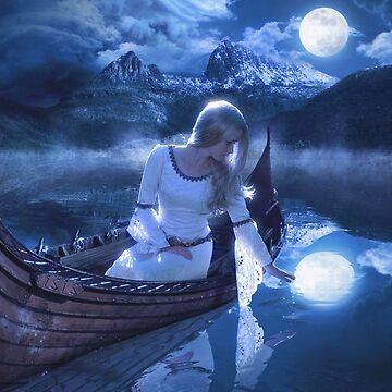 Moonlit Lake by FrancoisArt