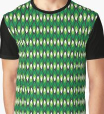 Small green flames pattern Graphic T-Shirt