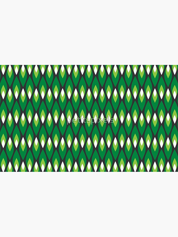 Small green flames pattern by petitspixels