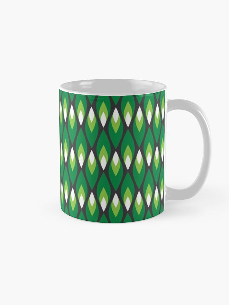 Alternate view of Small green flames pattern Mug