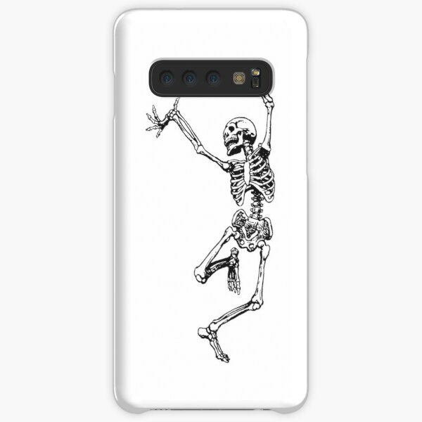 dancing skeleton having fun Samsung Galaxy Snap Case