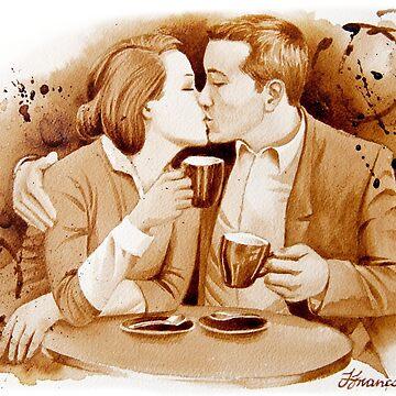 Coffee Kiss by FrancoisArt