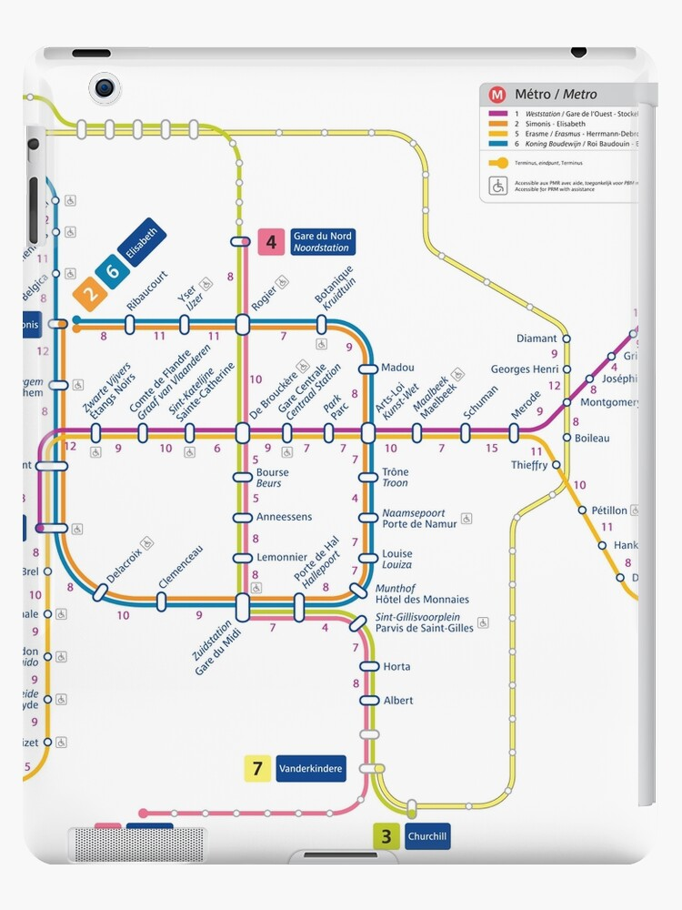 Brussels Metro Map Belgium Ipad Cases Skins By Superfunky