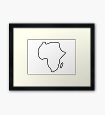 Africa African continent map Framed Print