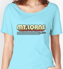 Mt. Lorne, Yukon | Retro Stripes Women's Relaxed Fit T-Shirt