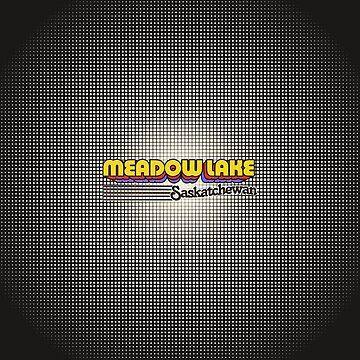 Meadow Lake, Saskatchewan | Retro Stripes by retroready