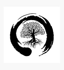 zen symbol and tree of life  Photographic Print
