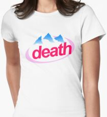 death evian cyberpunk vaporwave health goth Women's Fitted T-Shirt