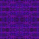 Violet Weave, abstract tartan pattern by clipsocallipso