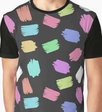 Colorful Brush Strokes - Blue Green Pink Purple Graphic T-Shirt