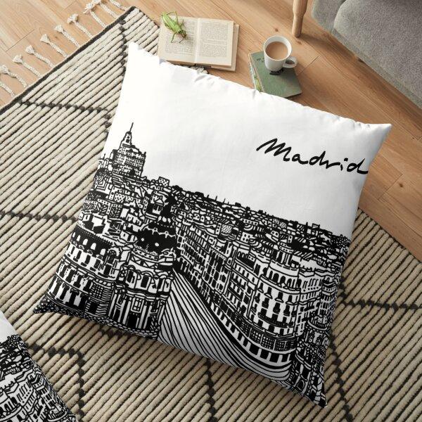 Gran via, Madrid - Spain Floor Pillow